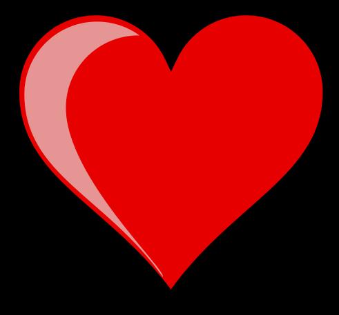Hjärta i svart ram